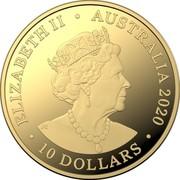 Australia 10 Dollars Eureka! - Australia Gold Rush 2020 C Proof ELIZABETH II AUSTRALIA 2020 10 DOLLARS coin obverse