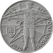 Slovakia 10 Euro (150th anniversary of the birth of Stefan Banic) 2020 SLOVENSKO coin obverse