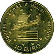 Greece 10 Euro 1996 Olympics 1996 UNC X# 60 ΕΥΡΩΠΗ 10 EURO EUROPA ΕΛΛΑΣ HELLAS coin obverse