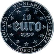 Finland 10 Euro 1997 Proof Euro Coinage FINLAND FINNLAND FINLANDE EUROPA 10 EURO 1997 coin reverse