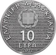 Greece 10 Euro Aeschylus 2012 Proof KM# 247 ΕΛΛΗΝΙΚΗ ΔΗΜΟΚΡΑΤΙΑ 10 ΕΥΡΩ 2012 coin obverse