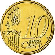 Greece 10 Euro Cent Rigas-Fereos Velestinlis 2008 KM# 211 10 EURO CENT coin reverse