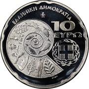 Greece 10 Euro International Year of Biodiversity 2010 Proof KM# 238 ΕΛΛΗΝΙΚΗ ΔΗΜΟΚΡΑΤΙΑ 10 ΕΥΡΩ coin obverse