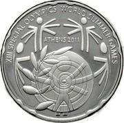 Greece 10 Euro Panathenaiko Stadium 2011 KM# 241 XIII SPECIAL OLYMPICS WORLD SUMMER GAMES ATHENS 2011 coin reverse