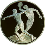 Greece 10 Euro Summer Olympics 2004 in Athens - Discus throwing 2004 Proof KM# 191 coin reverse