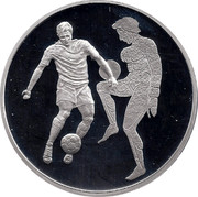 Greece 10 Euro Summer Olympics 2004 in Athens - Football (2004) Proof KM# 206 coin reverse