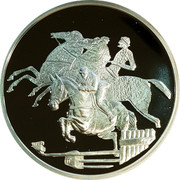 Greece 10 Euro Summer Olympics 2004 in Athens - Horse riding (2003) Proof KM# 197 coin reverse