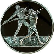 Greece 10 Euro Summer Olympics 2004 in Athens - Javelin 2004 Proof KM# 193 coin reverse