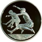 Greece 10 Euro Summer Olympics 2004 in Athens - Long Jump 2004 Proof KM# 194 coin reverse