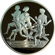 Greece 10 Euro Summer Olympics 2004 in Athens - Relay (2003) Proof KM# 196 coin reverse