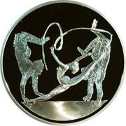 Greece 10 Euro Summer Olympics 2004 in Athens - Rhythmic gymnastics (2003) Proof KM# 199 coin reverse