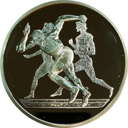 Greece 10 Euro Summer Olympics 2004 in Athens - Running 2004 Proof KM# 190 coin reverse