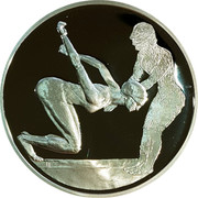 Greece 10 Euro Summer Olympics 2004 in Athens - Swimming (2003) Proof KM# 200 coin reverse