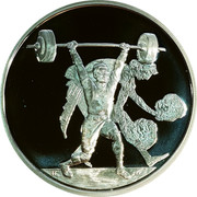 Greece 10 Euro Summer Olympics 2004 in Athens - Weightlifting (2004) Proof KM# 202 coin reverse