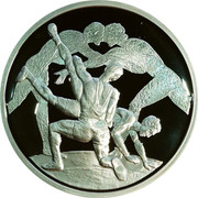 Greece 10 Euro Summer Olympics 2004 in Athens - Wrestling (2004) Proof KM# 203 coin reverse
