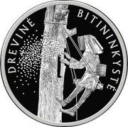 Lithuania 10 Euro The Tree Beekeeping 2020 DREVINĖ BITININKYSTĖ coin reverse