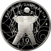 Greece 10 Euro XIII Special Olympics - The Event 2011 Proof KM# 242 10 ΕΥΡΩ ΕΛΛΗΝΙΚΗ ΔΗΜΟΚΡΑΤΙΑ coin obverse