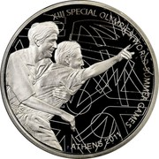Greece 10 Euro XIII Special Olympics - The Event 2011 Proof KM# 242 XIII SPECIAL OLYMPICS WORLD SUMMER GAMES ATHENS 2011 coin reverse