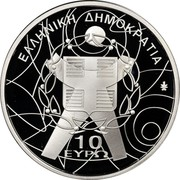 Greece 10 Euro XIII Special Olympics - The Torch 2011 Proof KM# 243 ΕΛΛΗΝΙΚΗ ΔΗΜΟΚΡΑΤΙΑ 10 ΕΥΡΩ coin obverse