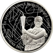 Greece 10 Euro XIII Special Olympics - The Torch 2011 Proof KM# 243 XIII SPECIAL OLYMPICS WORLD SUMMER GAMES ATHENS 2011 coin reverse