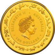 Australia 100 Dollars 4th Portrait - Year of the Rat 2020 BU ELIZABETH II • AUSTRALIA IRB • 100 DOLLARS • coin obverse