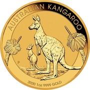 Australia 100 Dollars 6th Portrait - Kangaroo 2020 P BU AUSTRALIAN KANGAROO P AH 2020 1OZ 9999 GOLD coin reverse
