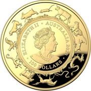 Australia 100 Dollars 6th Portrait - Lunar Year of the Rat 2020 Proof ELIZABETH II • AUSTRALIA 2020 JC • 100 DOLLARS • coin obverse