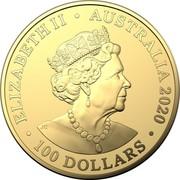 Australia 100 Dollars 6th Portrait - Redback Spider 2020 BU ELIZABETH II • AUSTRALIA 2020 JC • 100 DOLLARS • coin obverse