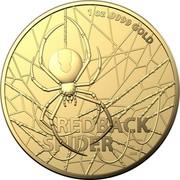 Australia 100 Dollars 6th Portrait - Redback Spider 2020 BU 1OZ .9999 GOLD REDBACK SPIDER AWB coin reverse
