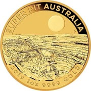 Australia 100 Dollars 6th Portrait - Super Pit 2019 P BU SUPER PIT AUSTRALIA LB P 2019 1 OZ 9999 GOLD coin reverse