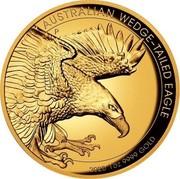 Australia 100 Dollars Australian Wedge-Tailed Eagle 2020 P High relief AUSTRALIAN WEDGE-TAILED EAGLE P JM 2020 1OZ 9999 GOLD coin reverse
