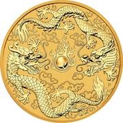 Australia 100 Dollars Double Dragon 2020  coin reverse