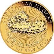Australia 100 Dollars Hand of Faith 2020 P AUSTRALIAN NUGGET 2020 1 OZ 9999 GOLD coin reverse