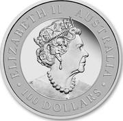 Australia 100 Dollars Wedge-Tailed Eagle 2020 Proof ELIZABETH II AUSTRALIA 100 DOLLARS coin obverse