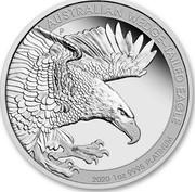 Australia 100 Dollars Wedge-Tailed Eagle 2020 Proof AUSTRALIAN WEDGE-TAILED EAGLE 2020 1 OZ 9995 PLATINUM coin reverse