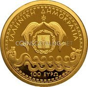 Greece 100 Euro 2016 Proof KM# 287 Euro Coinage coin obverse