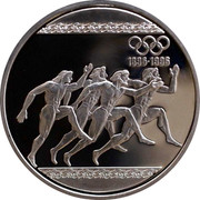 Greece 1000 Drachmes 100 years Olympics 1996 Proof KM# 165 1896-1996 coin reverse