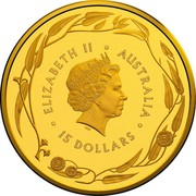 Australia 15 Dollars (4th Portrait - Kangaroo) ELIZABETH II • AUSTRALIA IRB • 15 DOLLARS • coin obverse