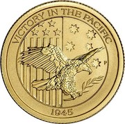 Australia 15 Dollars 4th Portrait - Victory in the Pacific 2016 P BU VICTORY IN THE PACIFIC P 1945 coin reverse