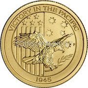 Australia 15 Dollars (4th Portrait - Victory in the Pacific) VICTORY IN THE PACIFIC P 1945 coin reverse