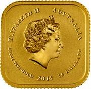 Australia 15 Dollars Australian Legal Tender Gold 2016 ELIZABETH II AUSTRALIA IRB 1/10 OZ 9999 GOLD 2016 15 DOLLARS coin obverse