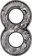 Australia 2 Dollars 6th Portrait - Dragon & Phoenix 2020 P P WR coin reverse