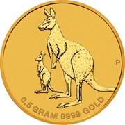 Australia 2 Dollars 6th Portrait - Mini Roo 2020 P P 0.5 GRAM 9999 GOLD coin reverse