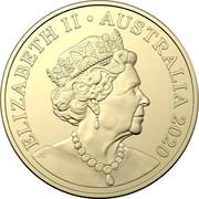 Australia 2 Dollars 6th portrait - Tooth Fairy 2020 UNC in Coincard ELIZABETH II AUSTRALIA 2020 JC coin obverse