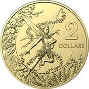 Australia 2 Dollars 6th portrait - Tooth Fairy 2020 UNC in Coincard BK 2 DOLLARS coin reverse