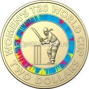 Australia 2 Dollars (ICC Women's T20 World Cup 2020) WOMENS T20 WORLD CUP TWO DOLLARS coin reverse