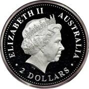 Australia 2 Dollars Kookaburra 1999 P ELIZABETH II AUSTRALIA 2 DOLLARS coin obverse