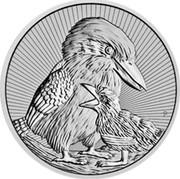 Australia 2 Dollars Kookaburra with Baby 2020 P  coin reverse
