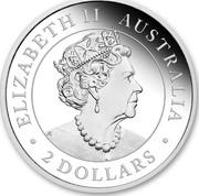 Australia 2 Dollars Wedge-Tailed Eagle 2020 Proof ELIZABETH II AUSTRALIA 2 DOLLARS coin obverse