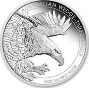 Australia 2 Dollars Wedge-Tailed Eagle 2020 Proof AUSTRALIAN WEDGE-TAILED EAGLE 2020 2 OZ 9999 SILVER coin reverse